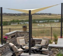 Outdoor Shade Sail Seating Area