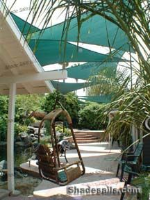 Multiple Shade Sails Patio Design