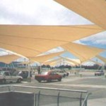 Shade Sails Parking Structure