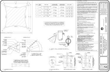 Pre Engineered Shade Sails Kits Hardware And Plans
