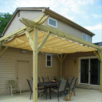 Patio with Wave Sail