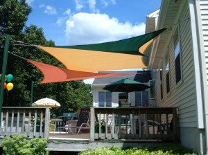Shade Sails Over Deck
