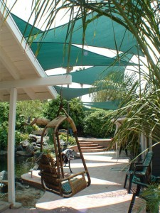 Shade Sails Over Patio