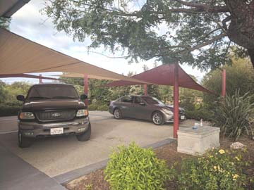 Ready-Made Shade Sails Drive Way